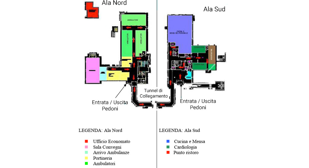 Ospedale san camillo planimetrie della struttura for Planimetrie della serra